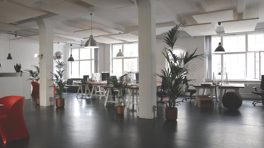 clean office space with natural light
